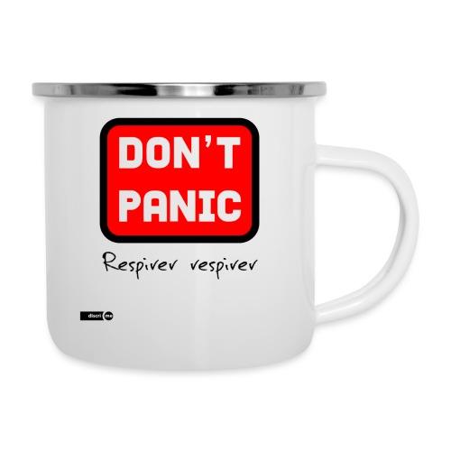 don't panic, respirer - Tasse émaillée