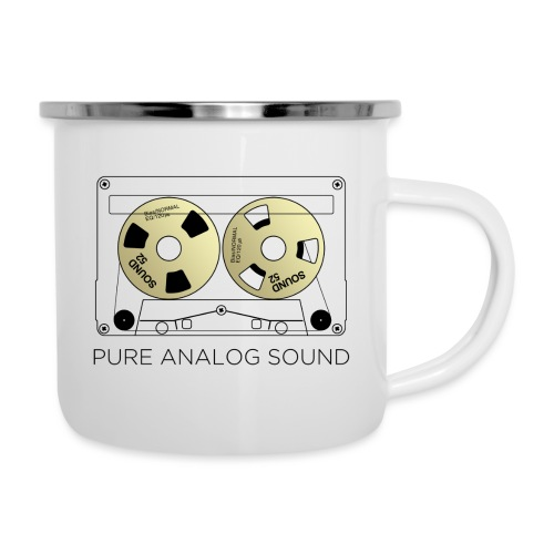 Reel gold cassette white - Camper Mug