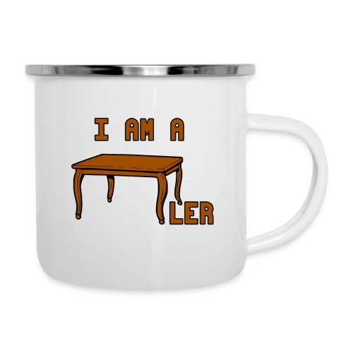 i am a Tischler - Emaille-Tasse