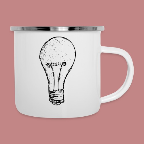 Lightbulby - Emaille-Tasse