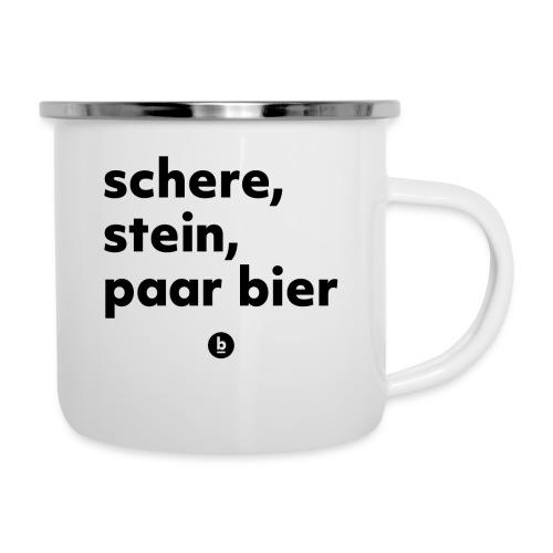 Schere, Stein, paar Bier - Emaille-Tasse