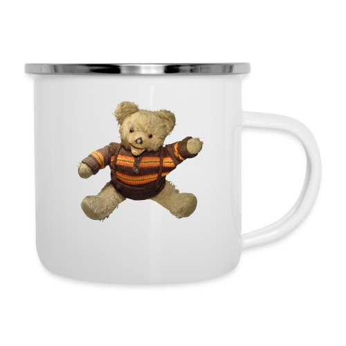 Teddybär - orange braun - Retro Vintage - Bär - Emaille-Tasse