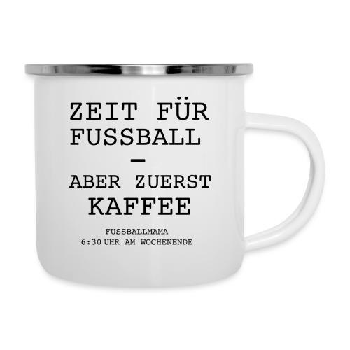 Kaffeezeit - Emaille-Tasse