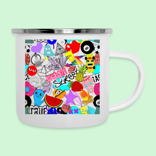 Stickers #1 - Emaille-Tasse