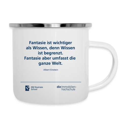 Tasse Einstein - Emaille-Tasse