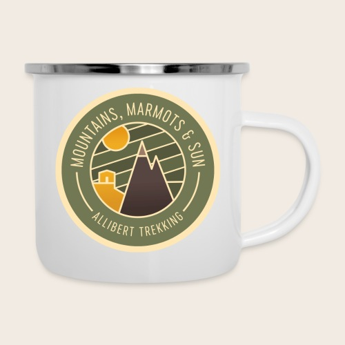 Mountains, Marmots & Sun - Badge - Tasse émaillée
