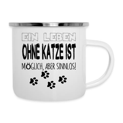 Katzen Katze Geschenk Katzenliebhaber Cat - Emaille-Tasse