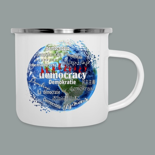 democracy - Emaille-Tasse