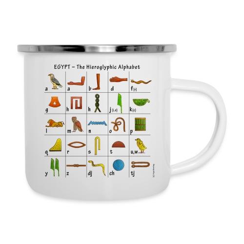 Ägyptisches Alphabet - Emaille-Tasse