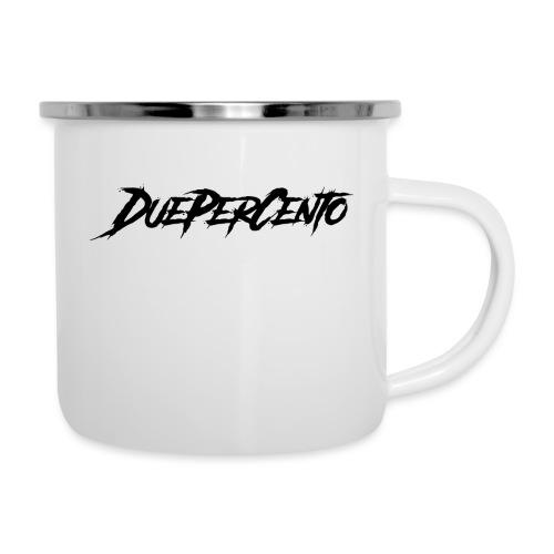 DuePerCento Scritta Nera - Tazza smaltata