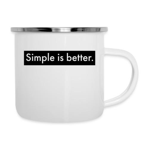 Simple Is Better - Camper Mug