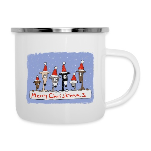 Christmas with sighthounds - Emaille-Tasse