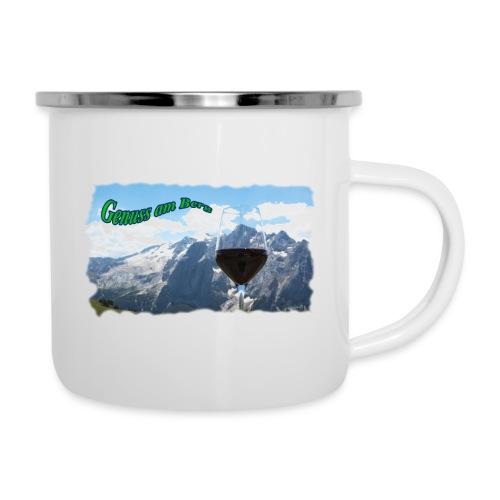 Genuss am Berg - Emaille-Tasse