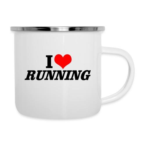 I love running - Emaille-Tasse