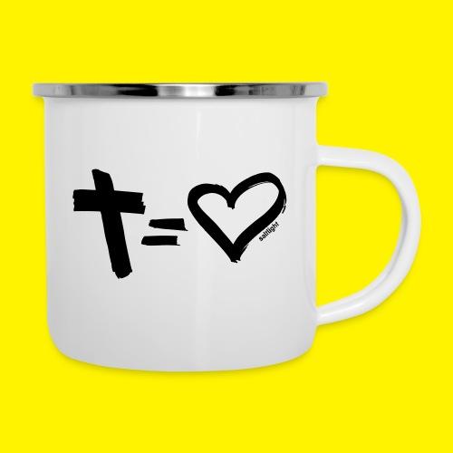 Cross = Heart BLACK - Camper Mug