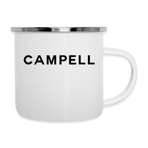 campell schriftzug2 - Emaille-Tasse