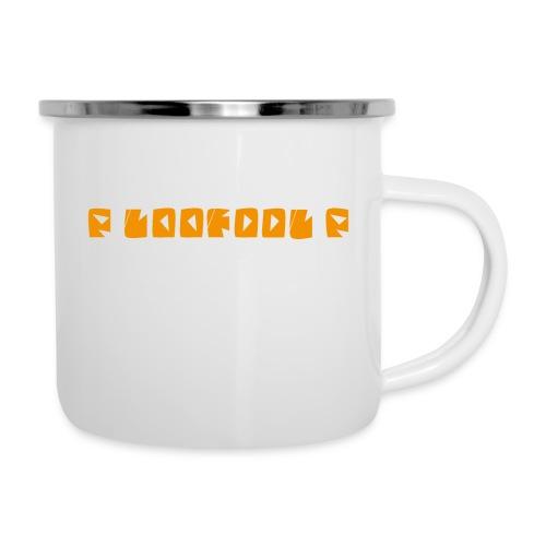 P loofool P - Orange logo - Emaljekopp