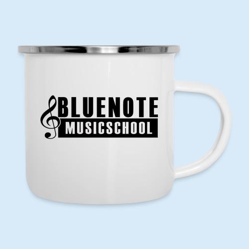 Bluenote Musicschool Logo Schwarz/Weiss - Emaille-Tasse