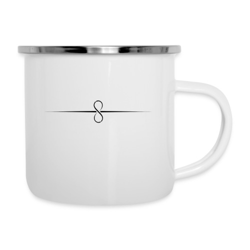 Through Infinity black symbol - Camper Mug