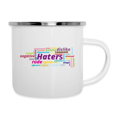 Haters - Taza esmaltada