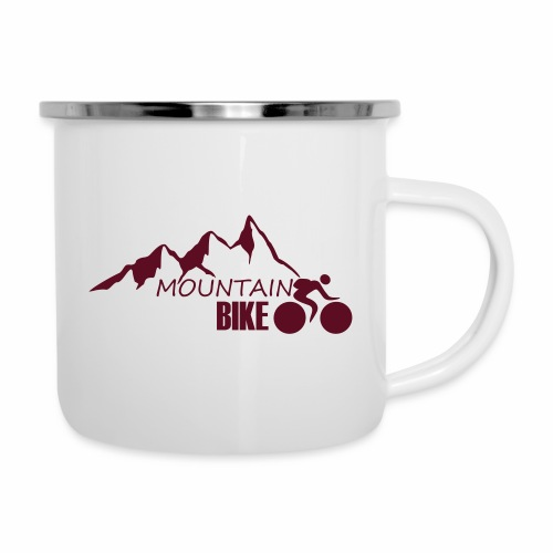 MOUNTAINBIKE - Emaille-Tasse