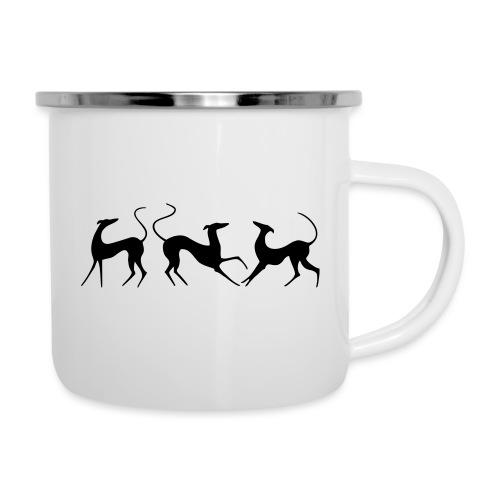Windhundfries - Emaille-Tasse