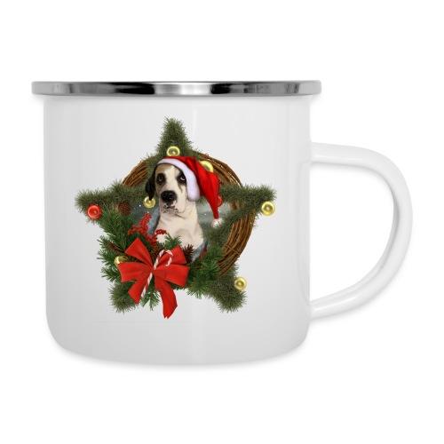 Christmas Dog - Tazza smaltata