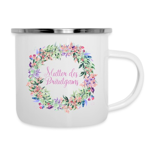 Mutter des Bräutigams - Emaille-Tasse