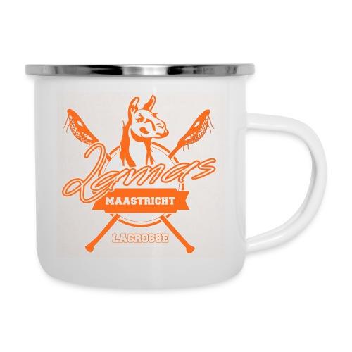 Llamas - Maastricht Lacrosse - Oranje - Emaille mok