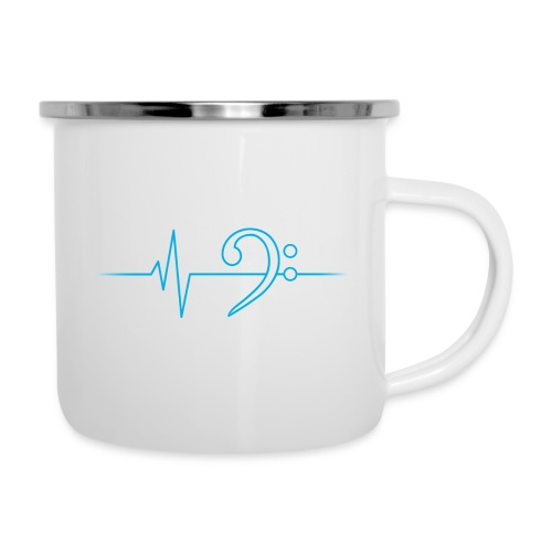 LowHeartBeat cyan - Emaille-Tasse