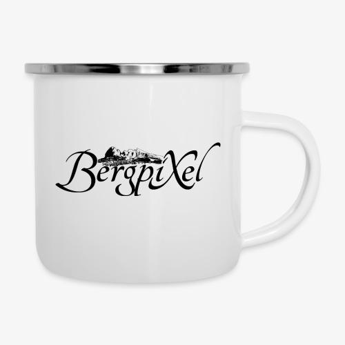 Bergpixel Logo - Emaille-Tasse