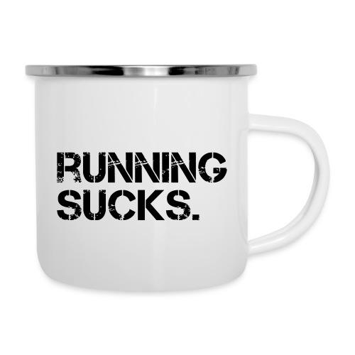 Running Sucks - Emaille-Tasse
