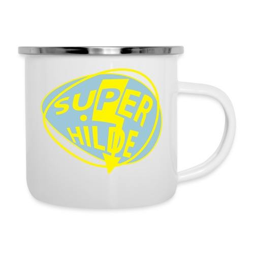 superhilde - Emaille-Tasse