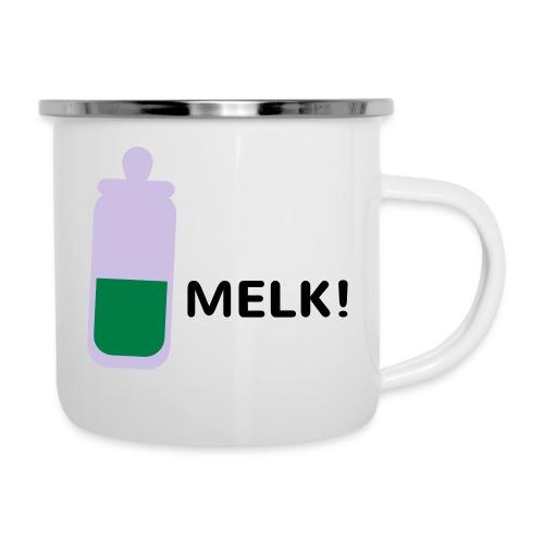 Grappige Rompertjes: Melk - Emaille mok