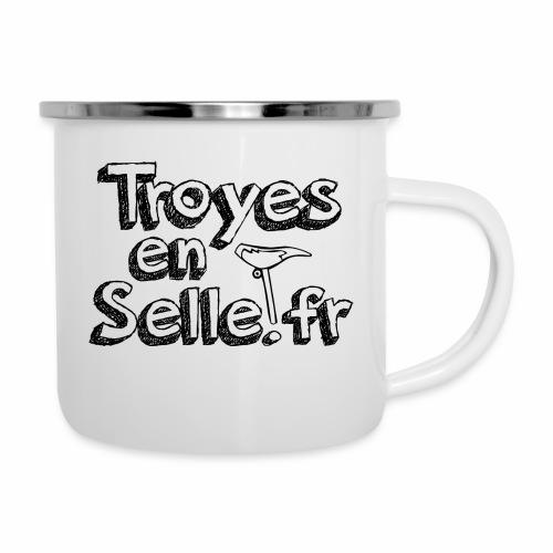 logo Troyes en Selle noir - Tasse émaillée