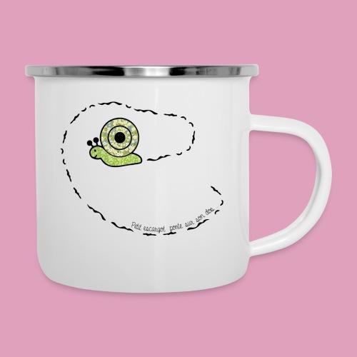 Petit escargot porte sur son dos... (Tasse) - Tasse émaillée