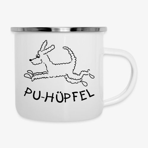 Pu-Hüpfel - Emaille-Tasse