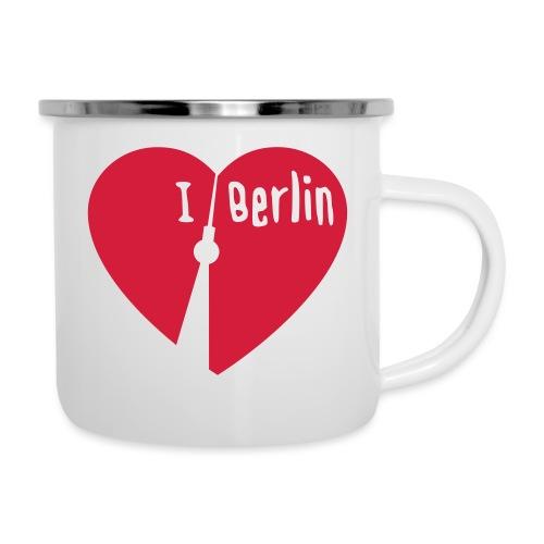 I love Berlin (1-farbig) - Emaille-Tasse