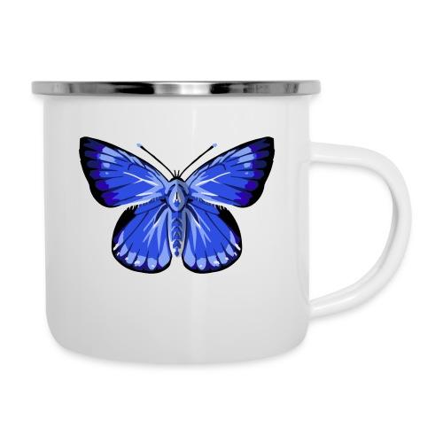 vlinder2_d - Emaille mok