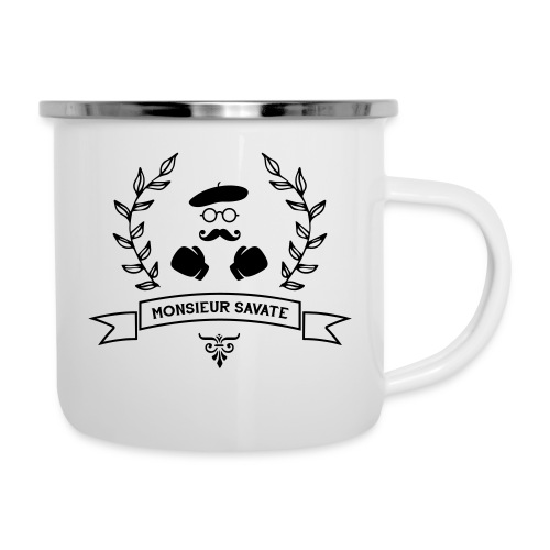 Monsieur Savate logo1 - Tasse émaillée