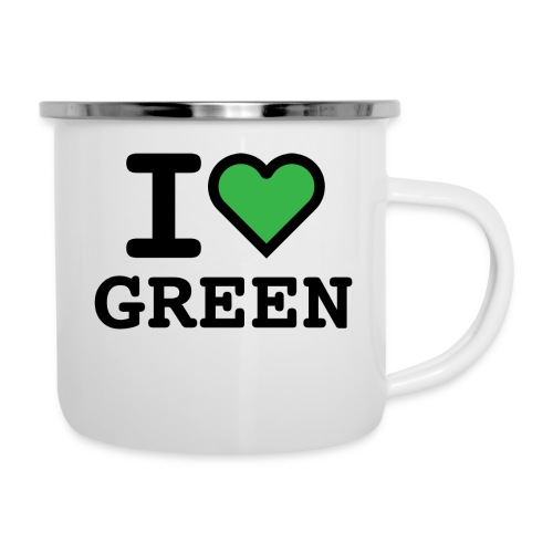 i-love-green-2.png - Tazza smaltata