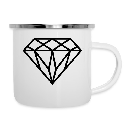 Diamond Graphic // Diamant Grafik - Emaille-Tasse