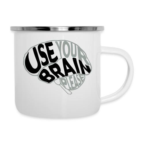 Use your brain - Tazza smaltata