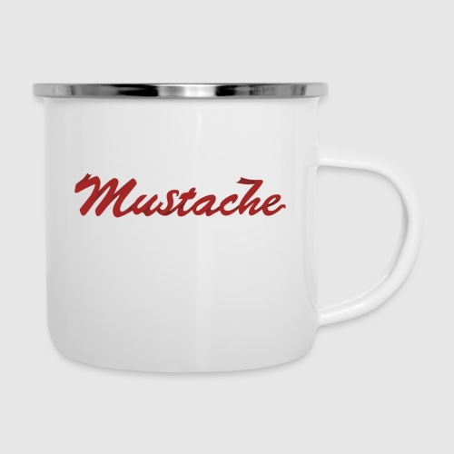 Red Mustache Lettering - Camper Mug