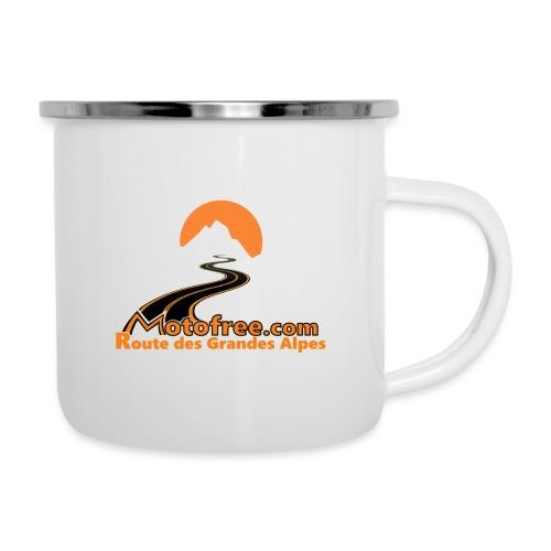 logo motofree orange - Tasse émaillée