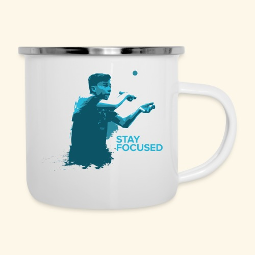 Stay Focused and enjoy the game ping pong - Emaille-Tasse