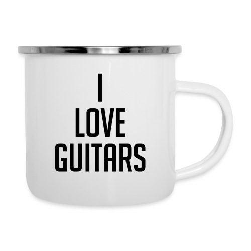 I Love Guitars - Camper Mug