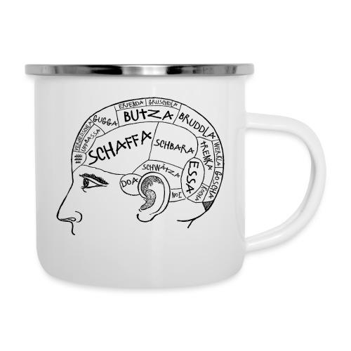 Kopfsache - Emaille-Tasse