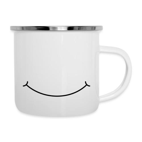 Smilie - Emaille-Tasse