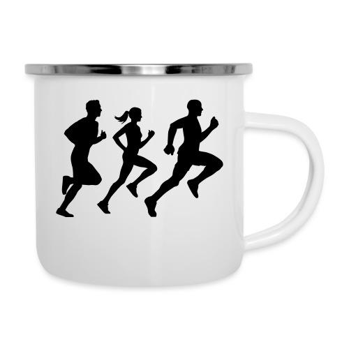 runner group Läufer Gruppe Team - Emaille-Tasse